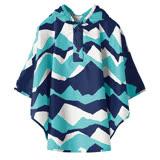 【日本KIU空氣感兒童雨衣】80~100cm適用防水斗篷(30066S 富士山嵐)