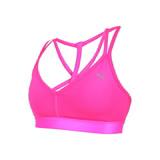 (女) PUMA 訓練系列低衝擊運動內衣-慢跑 路跑 韻律 有氧 瑜珈 背心 螢光粉