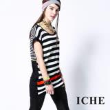ICHE衣哲 橫條紋狀色造型上衣