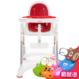 【myheart】 折疊式兒童安全餐椅八色可選 (送立體圍兜*3入隨機)