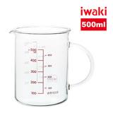 【iwaki】玻璃微波把手量杯500ml
