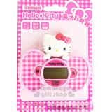 〔小禮堂〕Hello Kitty 造型計時器《粉.格紋蝴蝶結.大臉》背部附磁鐵