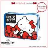 〔小禮堂〕Hello Kitty 旅行防水盥洗包《紅藍.大.透明.時尚蝴蝶結》2017KAWAII甜心旅行系列