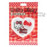〔小禮堂〕Hello Kitty 愛心造型暖蛋《白.紅蝴蝶結.大臉》附LED照明小燈