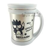 〔小禮堂〕酷企鵝 單耳附蓋不鏽鋼杯《灰.站姿.拿飲料.420ml》可保溫保冷