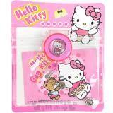 〔小禮堂〕Hello Kitty 伸縮證件套《粉.小熊.蝴蝶結》金屬夾可扣書包