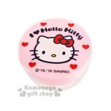 〔小禮堂〕Hello Kitty 乳液盒《30g.透明.粉.大臉.愛心》平日旅行皆適用