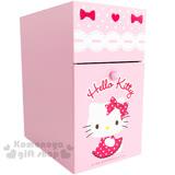 〔小禮堂〕Hello Kitty 雙層單抽收納盒《粉.點點洋裝.蕾絲.AD11-0071》輕鬆收納好幫手