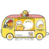〔小禮堂〕蛋黃哥 造型自黏便利貼《黃.汽車型.75張》5種圖案