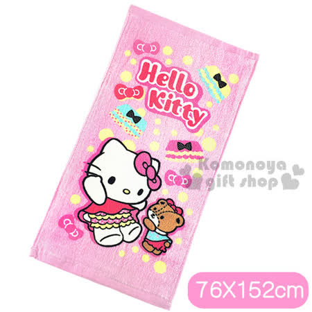 〔小禮堂〕Hello Kitty 大浴巾《粉.點點.小褲》100%棉 -friDay購物 x GoHappy