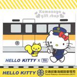 〔小禮堂〕Hello Kitty x 台鐵 明信片《白.站長.火車.台北》新太魯閣號限定