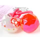 〔小禮堂〕Hello Kitty 造型彈力髮束《紅.大臉.圓球》髮圈