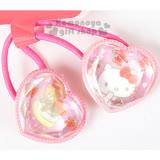 〔小禮堂〕Hello Kitty 造型彈力髮束《粉.愛心型.草莓.小熊》髮圈