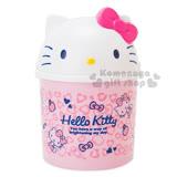〔小禮堂〕Hello Kitty 車用造型垃圾桶《粉.大臉.坐姿.蘋果.蝴蝶結》室內汽車兼用
