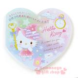 〔小禮堂〕Hello Kitty 日製心型便條紙《粉.站姿.鑰匙.魔法帽.懷錶》水溶紙5枚