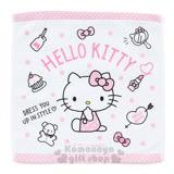 〔小禮堂〕Hello Kitty 方形毛巾《白.點點.坐姿.口紅.小熊》34x35cm.2017清涼夏日系列