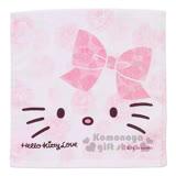 〔小禮堂〕Hello Kitty 方形毛巾《粉.大臉.玫瑰滿版》34x35cm.以愛之名系列