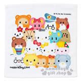 〔小禮堂〕Hello Kitty 方形毛巾《白.Q版.朋友們》34x35cm.以愛之名系列