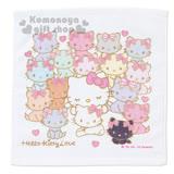 〔小禮堂〕Hello Kitty 方形毛巾《白.恰咪.彩虹貓咪》34x35cm.以愛之名系列