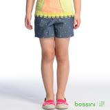 bossini女童-牛仔輕便短褲10深靛藍