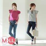 日本ANNA LUNA 預購-簡雅褶邊袖上衣-素色款(共九色/M-LL)
