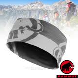 【瑞士 MAMMUT 長毛象】新款 Runbold Headband 超彈性吸濕快乾舒適頭巾(抗UV50+).圍脖帽子.圍巾.口罩.無車縫/05000-5819 鈦金灰