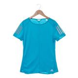 Adidas 圓領短T 女  藍 RS SS TEE W - BP7457