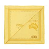 Alviero Martini 義大利地圖包 地圖明亮色彩方巾-黃(70X70)