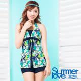 【夏之戀SUMMER LOVE】淑女印花三件式泳衣S17724