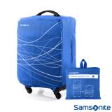 Samsonite新秀麗 摺疊可收納彈性託運李箱保護套L號 28吋~30吋(藍)