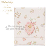 〔小禮堂〕Hello Kitty x LADUREE 皮質立鏡折疊鏡《粉.甜點》