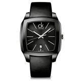 瑞士 Calvin Klein IP鍍黑方形放射狀面盤男錶 (K2K21402)