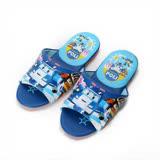 (中大童) 救援小英雄 POLI波力室內皮拖鞋 藍 童鞋 鞋全家福
