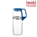 【iwaki】耐熱抗菌 玻璃冷水壺 1200ml