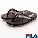FILA頂級童鞋-運動休閒夾腳涼鞋-S434R-041黑灰-(18-24cm)