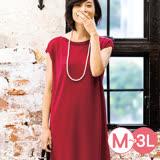 日本ANNA LUNA 預購-肩領羅紋針織洋裝長版上衣(共三色/M-3L)