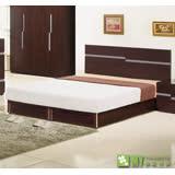 【喬立爾】最愛傢俱-雙子星胡桃5呎雙人床台/床組