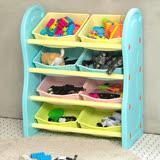 IDEA-馬卡龍色系兒童四層玩具收納架