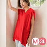 日本ANNA LUNA 預購-寬鬆感V領長版針織上衣(共四色/M-3L)
