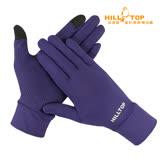 【hilltop山頂鳥】抗UV涼感觸控手套S46X06紫