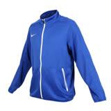 (男) NIKE 針織籃球夾克-立領外套 慢跑 路跑 藍白