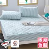 【原創本色】綠色世界 雙人防潑水抗菌兩用床包型保潔墊枕套組
