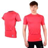 (男) NIKE PRO COMBAT 短袖緊身衣-針織 健身 重訓 緊身T恤 玫紅 XL