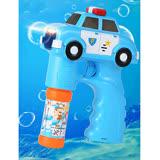 17mall】兒童玩具電動聲光音樂警車泡泡槍附贈泡泡水