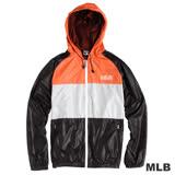 MLB-經典款連帽薄風衣外套-黑(男)