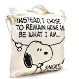 日本進口PEANUTS【懶懶Snoopy】肩背手提帆布包