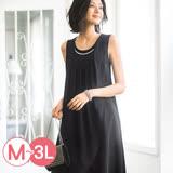 日本Portcros 預購-portcros優雅層次設計可拆項鍊洋裝(共二色/M-3L)
