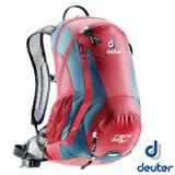 【德國 Deuter】新款 Race EXP Air 12+3L 輕量透氣網架式自行車背包(附防雨罩+安全帽網+反光標緻) 適健行登山 32133 漿果紅/深藍