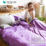 【梵蒂尼Famttini-經典紫情】撞色加大被套床包組-採用天絲™萊賽爾纖維