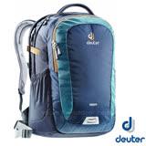 【德國 Deuter】Giga 28L 旅遊後背包.後背筆電腦包 (肩帶可調整 腰帶可拆)登山健行旅遊包.上班洽公自助旅行.學生書包 80414 深藍/咖啡